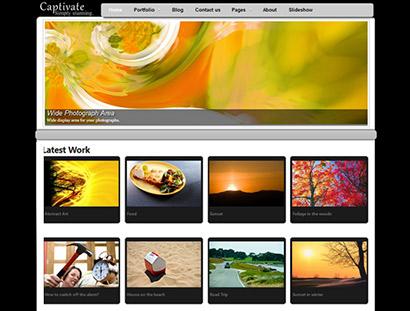 captivate photography portfolio gallery wordpress theme