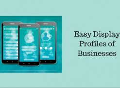 Easy display profiles of businesses