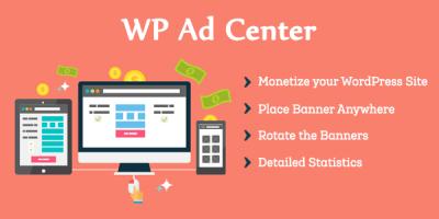 WP ad center wordpress plugin