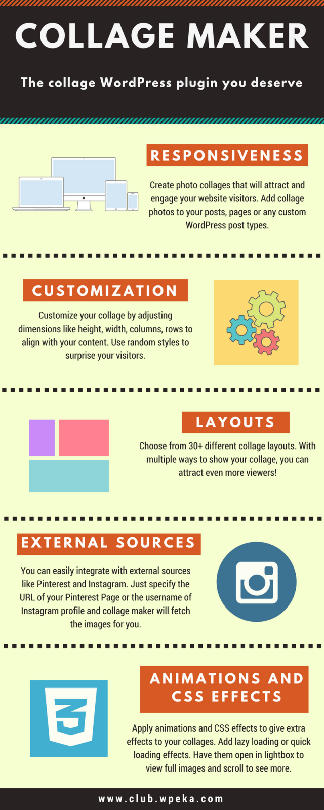 Collage maker plugin infographic