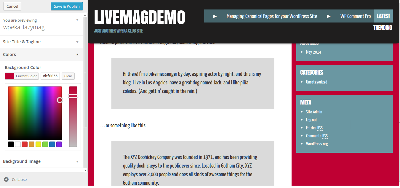 Manage Themes ‹ livemagdemo — WordPress (1)