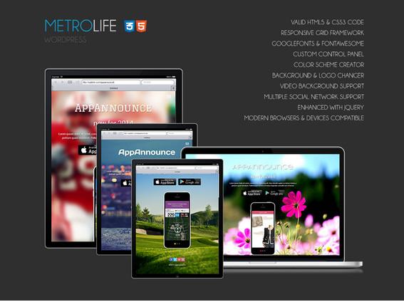 Metrolife - A fully responsive WordPress theme