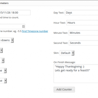 WP Time Counter Settings