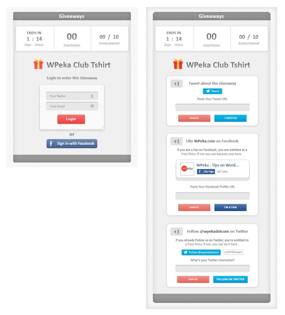 wp-raffle wordpress giveaway plugin screenshots