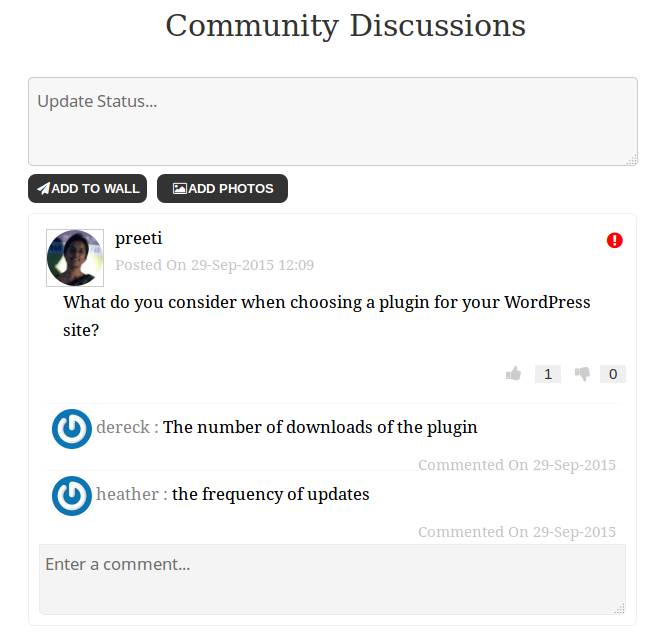 Build a social network with Community Board