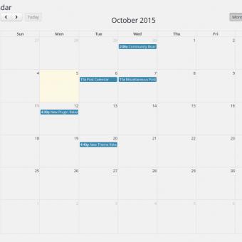 Post Calendar - Month View