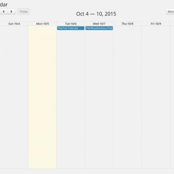 Post Calendar - Week View