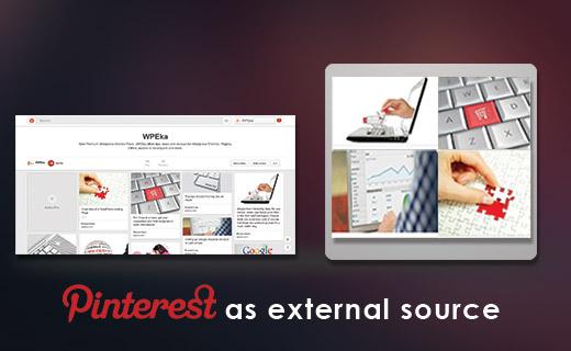 Pinterest as External Source
