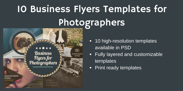 Business flyer templates for photographers to promote business accmission